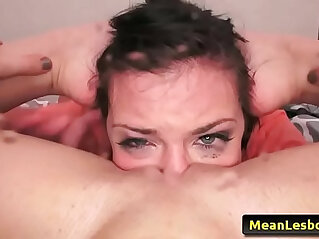 Hot and mean lesbian deep in love to bang with her fist with adriana chechik and gabriella paltrova